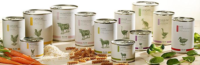 alsa-nature Dosenfutter für Hunde in bester Premium Qualität.