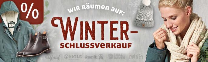Wir räumen auf: Winterschlussverkauf