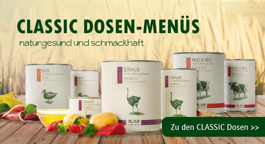 Dosen-Menüs, Nassfutter von alsa