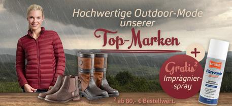 Hochwertige Outdoor-Bekleidung unserer Top-Marken
