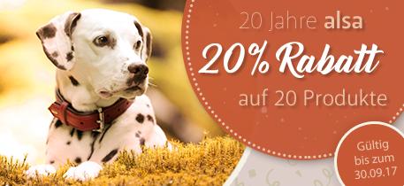 20 Jahre alsa – 20 % Rabatt auf 20 Produkte