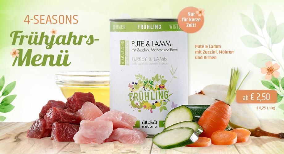 alsa-nature 4-SEASONS Frühjahrs-Menü Pute & Lamm
