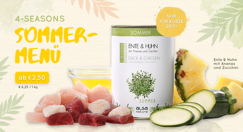 alsa-nature 4-SEASONS Sommer-Menü Ente & Huhn