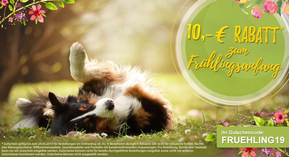 10,- € Rabatt* zum Frühlingsanfang #FRUEHLING19