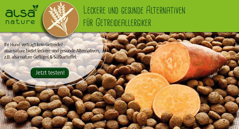 Naturgesundes Trockenfutter ohne Getreide im alsa Onlineshop bestellen.