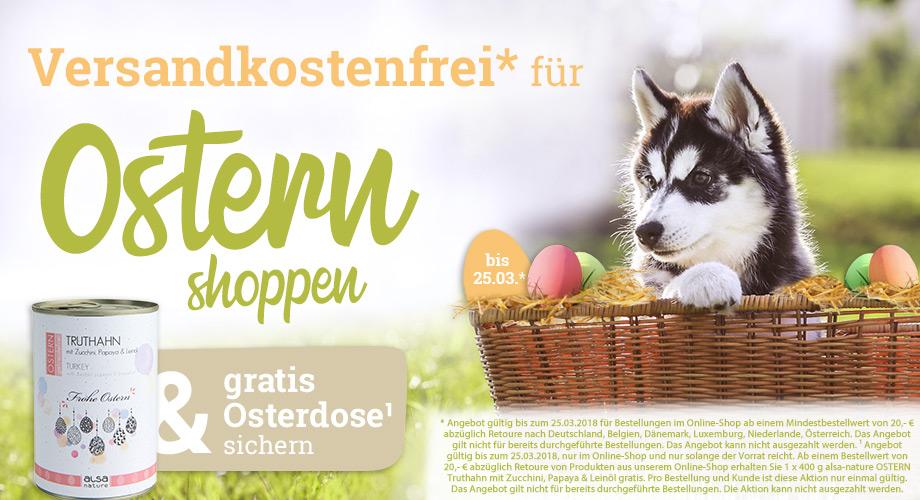 Versandkostenfrei für Ostern shoppen & gratis Osterdose sichern