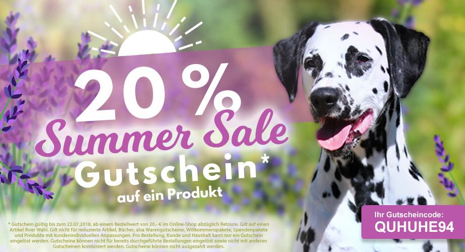 20 % Summer Sale Gutschein* #QUHUHE94