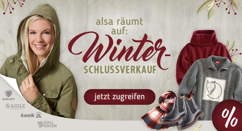 alsa räumt auf: Winterschlussverkauf