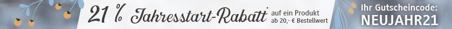21 % Jahresstart-Rabatt #NEUJAHR21
