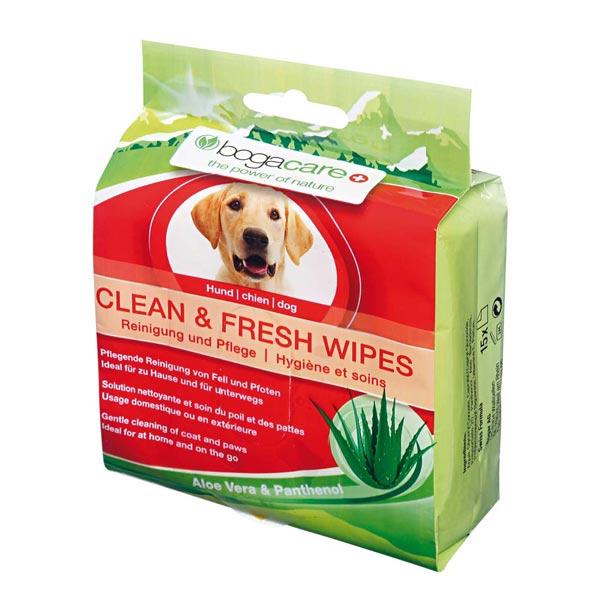 """bogacare® Fell- und Pfotenpflegetücher """"Clean & Fresh Wipes"""""""