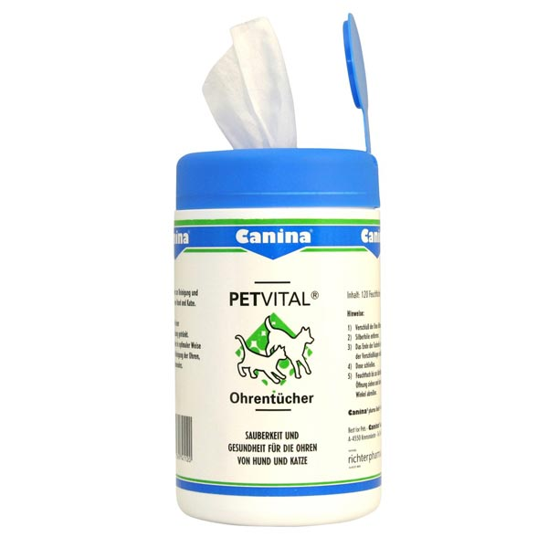 Canina Petvital® Ohrenpflegetücher