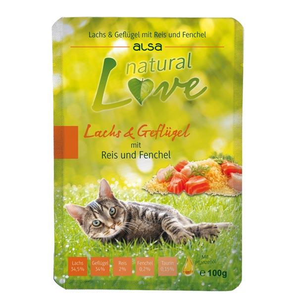 alsa natural Love Lachs & Geflügel mit Reis & Fenchel