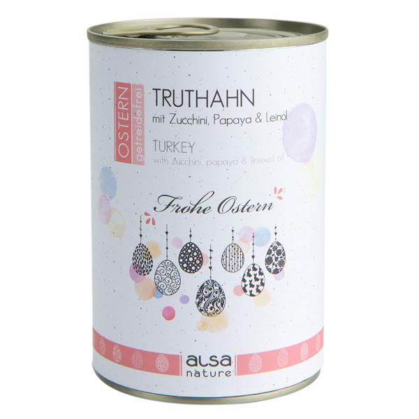 alsa-nature OSTERN Truthahn mit Zucchini, Papaya & Leinöl