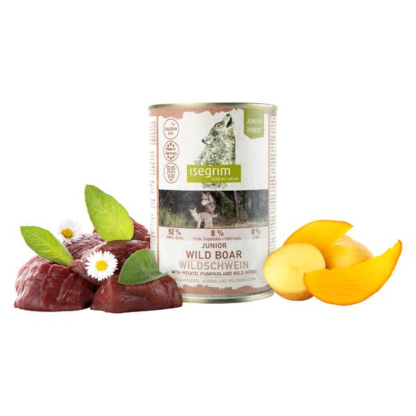 isegrim® Junior FOREST Wildzwijn met aardappelen, pompoen & wilde kruiden