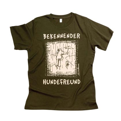 "Cartoon-T-Shirt ""Bekennender Hundefreund"""