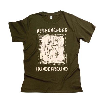 """Cartoon-T-Shirt """"Bekennender Hundefreund"""""""