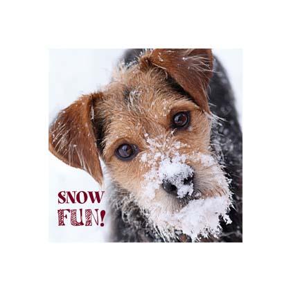 "Kerstkaart ""Snow Day"""