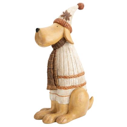 "Hunde-Dekofigur ""Winter Dog"""
