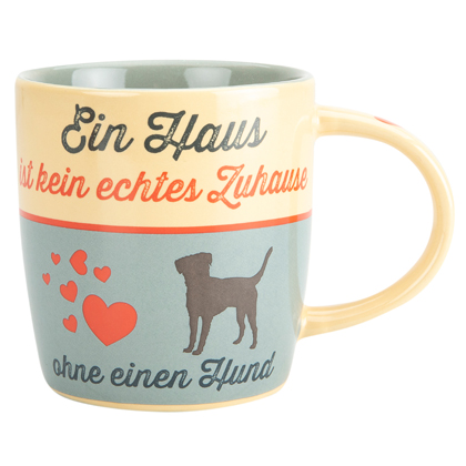 "Kaffeebecher ""Nostalgic Art Home & Dog"""