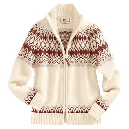 "Fjällräven Damen Strickjacke ""Sörmland Jacquard Sweater W"""
