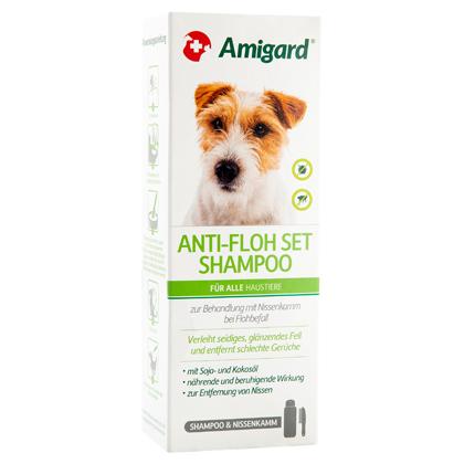 "Amigard® Anti-Floh Set ""Shampoo & Nissenkamm"""