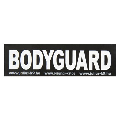 """Label voor JULIUS-K9 """"Bodyguard"""", set van 2"""