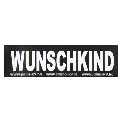 """Julius-K9® Klettsticker """"Wunschkind"""""""