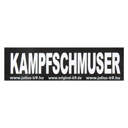 "Julius-K9® Klettsticker ""Kampfschmuser"""