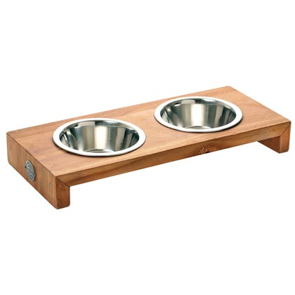 "Teakholz-Futterbar ""Pure Wood"""
