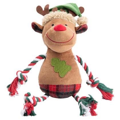 """Hunde-Plüschspielzeug """"Merry Reindeer"""""""