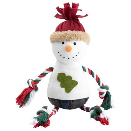 """Hunde-Plüschspielzeug """"Merry Snowman"""""""