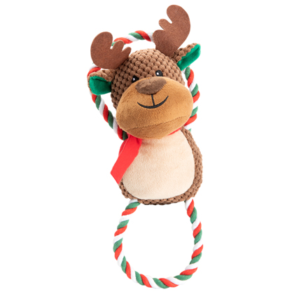 """Hunde-Plüschspielzeug """"Weihnachts-Rentier"""""""