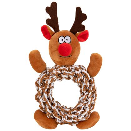 "Hundespielzeug ""Knottie Ring Reindeer"""
