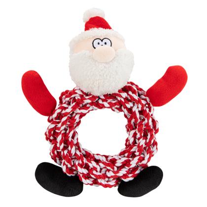 "Hundespielzeug ""Knottie Ring Santa"""