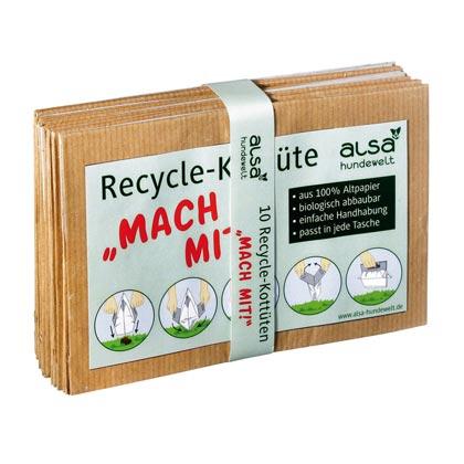 """alsa-brand Recycle-Kottüten """"Mach mit!"""""""
