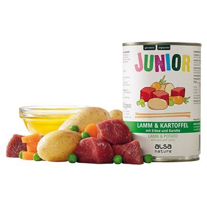 alsa-nature Junior Lamm mit Kartoffel, Erbsen & Möhre