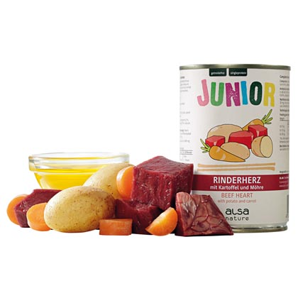 alsa-nature Junior Rinderherz mit Kartoffel & Möhre