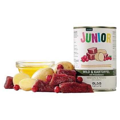 alsa-nature Junior Wild mit Kartoffel & Preiselbeere