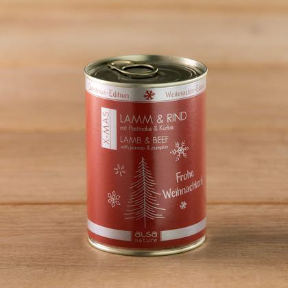 """alsa-nature """"Kerst-editie"""" Lam & Rund met pastinaak & pompoen"""