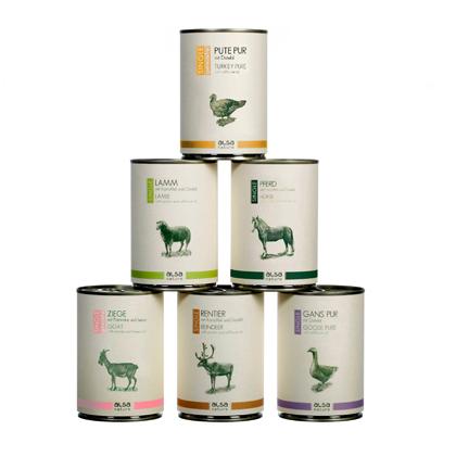 alsa-nature Single-Protein Dosen-Menü-Mix 400 g Dosen
