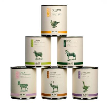 alsa-nature Single-Protein Dosen-Menü-Mix 800 g Dosen