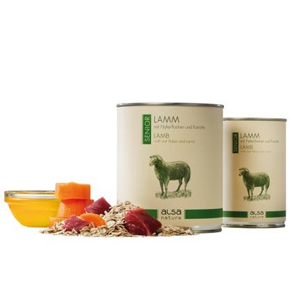 alsa-nature Senior Lamm pur mit Haferflocken & Karotte