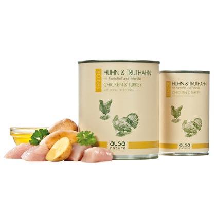 alsa-nature Senior Huhn & Truthahn mit Kartoffel und Petersilie
