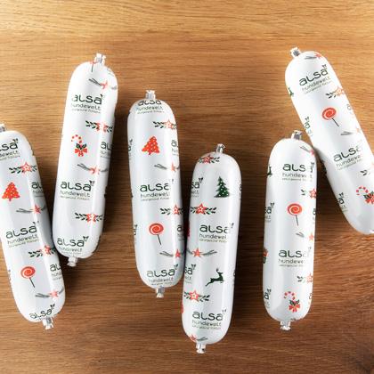 alsa-nature Kerstworst Kip met zalm en bosbes
