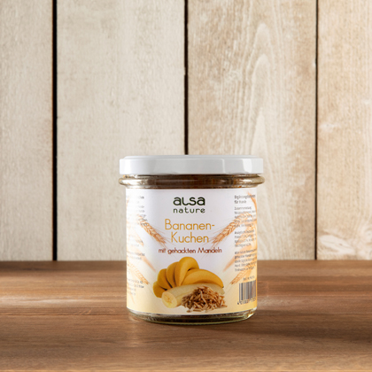 alsa-nature Bananenkoek in glas