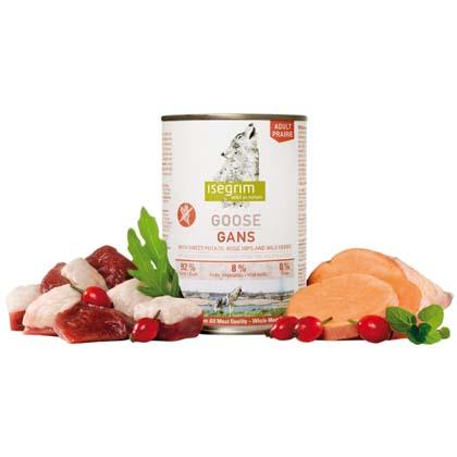 isegrim® PRAIRIE Gans mit Süßkartoffeln, Hagebutten & Wildkräutern
