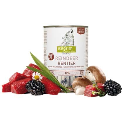 isegrim® FOREST Rentier pur mit Brombeeren, Champignons & Wildkräutern