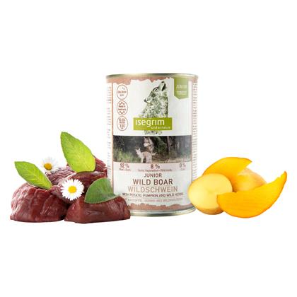 isegrim® Junior FOREST Wildschwein mit Kartoffel, Kürbis & Wildkräutern