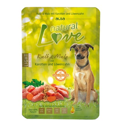 alsa natural Love Single-Protein Kalb mit Malz, Karotten und Löwenzahn