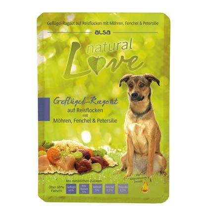 natural Love Gevogelte-Ragout van rijstvlokken met wortelen, venkel en peterselie